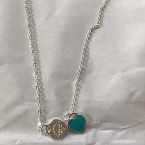 Jewelry - Dainty heart necklace sterling silver set